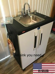 Portable Sink Nsf Mobile Handwash Self Contained Hot Cold Water Led Light