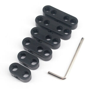 8 5mm 8 8mm 9mm Black Spark Plug Wire Separator Dividers Looms Chevy Ford 7343b