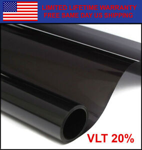 Window Carbon Tint Roll 20 Vlt 36 100 Feet Home Commercial Office Auto Film