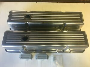 Zoops Tall Valve Covers Sbc Small Block Chevy Ball Milled Aluminum With Baffles