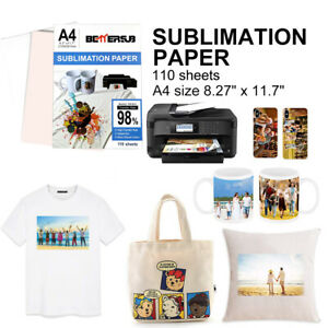 110 Sheets A4 8 5 11 Iron on Dye Sublimation Transfer Paper For Inkjet T shirt