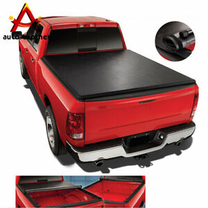 Soft Top Roll Up Tonneau Cover 6 5ft Short Bed For Silverado Sierra 14 18 Vinyl