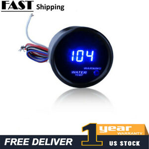 Black 2 52mm Digital Led Fahrenheit Water Temp Temperature Gauge A5