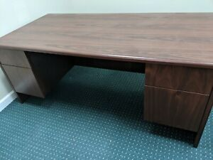 Used Office Furniture Desk Return Conference Table W chairs And Executive Chair