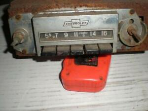 Vintage Nova Delco 60 s Am Push Button Chevrolet Radio 7279922 un tested