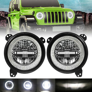 9 Inch Round Led Headlights For 2018 2019 Jeep Wrangler Jl Pickup Gladiator Suv