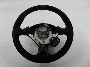 02 06 Acura Rsx Type s Suede Wrapped Steering Wheel Blue Stitch Leather
