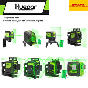 Huepar Green Rotary Laser Level Line Kit 3d 360 Line Cross Horizontal Vertical