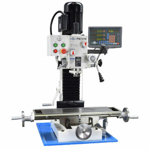 Pm 727 v Vertical Bench Top Milling Machine 3 axis Dro Var Speed Free Shipping
