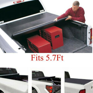 Soft Roll Up Tonneau Cover For 2009 2018 Dodge Ram 1500 Crew Cab 5 7 Short Bed