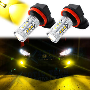 For Honda Civic 2006 2019 Golden Yellow Projector Led Fog Driving Light Bulbs