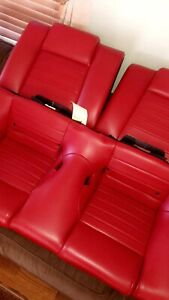 5 09 Ford Mustang Oem Red Leather Rear Seat V8 V6 All 2005 2006 2007 2008 2009