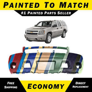 New Painted To Match Front Bumper For 2007 2014 Chevy Suburban Tahoe Avalanche