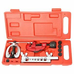 7 Dies Double Flare Flaring Tube Brake Lines Pipe Air Conditioning Tools Kit Set