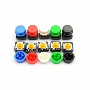 20pcs Tactile Push Button Switch Momentary 12 12 7 3mm Micro Switch Button 2