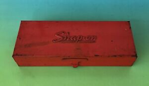 Nice Vintage Snap on Tools Red Metal 1 4 Socket Box Kra 223a
