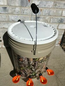 Fall Special Automatic Chicken Poultry Waterer Feeder Tree Camo 4 Orange Cups
