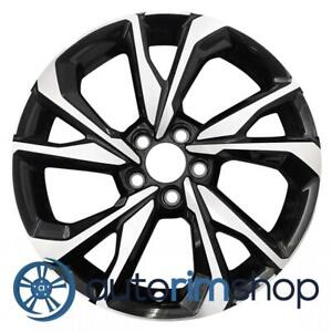 New 18 Replacement Rim For Honda Civic 2017 2018 2019 Wheel Machined With Black