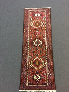 On Sale Hand Knotted Persian Gharajeh Geometric Rug Runner Carpet 2 4x6 7 2681