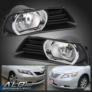 For 07 09 Toyota Camry Halo Projector Driving Bumper Pair Fog Lights Switch Set