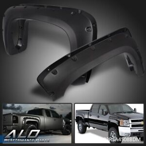 For 07 13 Chevy Silverado 1500 2500hd 3500hd Pocket Style Rivet Fender Flares