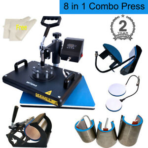 8 In 1 Heat Press Machine Digital Transfer Sublimation For T shirt Mug Plate Hat