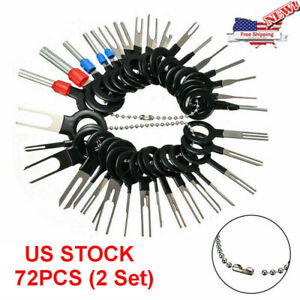 36pcs Car Wire Terminal Removal Tool Wiring Connector Pin Extractor Puller Set