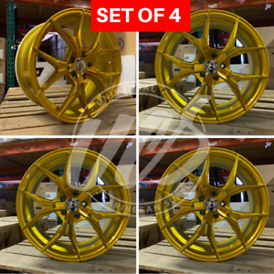 19x8 5 Candy Satin Gold Xf5 Style Wheels Rims Fits Bmw 5 Series Set Of 4