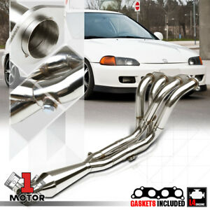 Ss Tri Y Exhaust Header Manifold For 88 00 Civic 94 01 Integra K20 Engine Swap