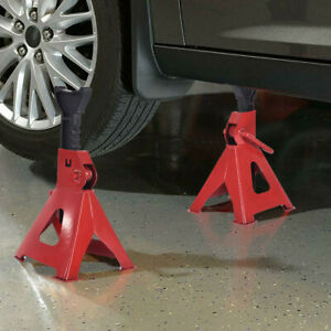 3 Ton High Lift Jack Stands 2 Pieces Car Auto Truck Garage Tools Set 6 000 Lb Us