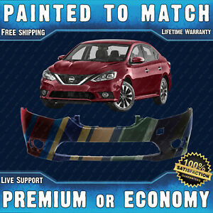New Painted To Match Front Bumper Cover Replacement For 2016 2019 Nissan Sentra