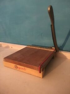 Vintage Ingento No 3 Paper Cutter Ideal School Supply Company Wood 10 X 11