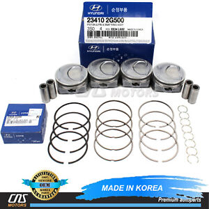 Genuine Engine Piston W Ring Set For 11 13 Hyundai Sonata Optima Sorento 2 4l