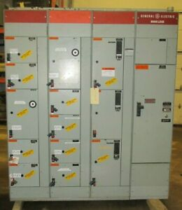 Ge 8000 Line Mcc Motor Control Center 2000 Amp Section 3713pa