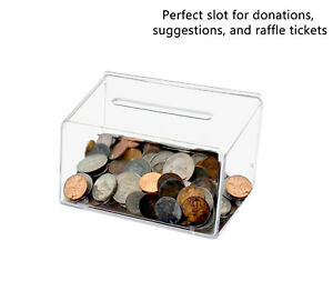 Small Ballot Box 5 w X 3 h Coin Bank Contest Collection Tip Collector Qty 10