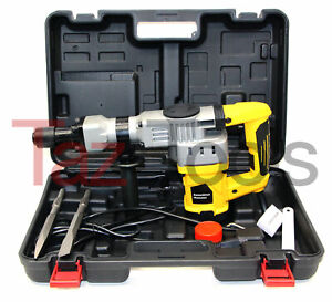 H d Demolition Hammer Drill 1 1 2 Punch Chisel Rotary Drill 1280w Yellow