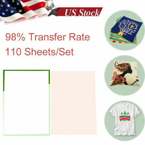 110pcs A4 Iron On Heat Transfer Sublimation Paper For Inkjet T shirt Printer Mug