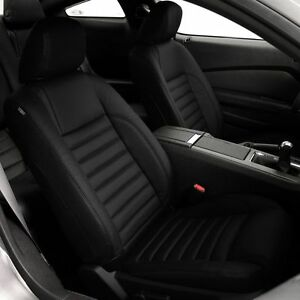 Katzkin Black Repl Leather Int Seat Cover Fit 2011 2012 Ford Mustang Coupe V6 Gt