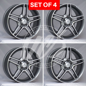 New Amg Style Silver Rims Wheels Fits Mercedes Benz Offset 35 5x112 18x8 5