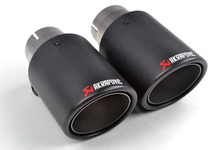1pcs 25 63mm Inlet 114mm Outlet Akrapovic Exhaust Tip Muffler Pipe Carbon Fiber