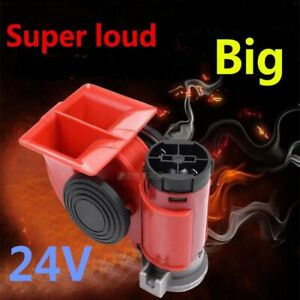 Loud Car Motorcycle Truck 24v Red Siren Vehicle Horn Air Pump Electric Tone Dual