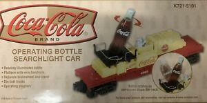 ✅ K-LINE OPERATING COCA COLA BOTTLE SEARCHLIGHT FLAT CAR FITS LIONEL MTH COKE