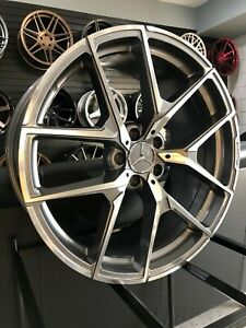 20 Gunmetal Staggered Y Amg Style Rims Wheels Fits Mercedes Benz S Class W221
