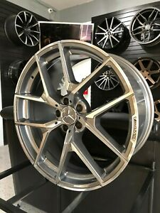 20 Staggered Grey Y Amg Style Wheels Fits Mercedes W221 W222 S450 S550
