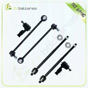 New 6x Steering Parts Tie Rod End Front Sway Bar For 2003 07 08 Hyundai Tiburon