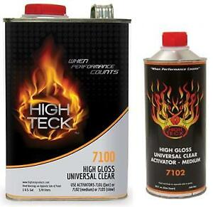 High Teck 7100 High Gloss Universal Clearcoat Gallon Kit With Medium Activator