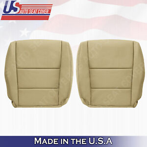 Fits 2008 To 2012 Honda Accord Driver Passenger Tan Black Leather Seat Cover