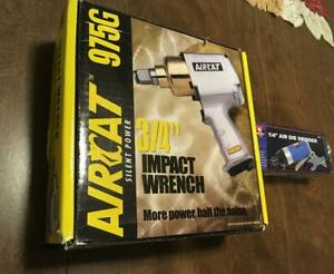 Aircat Pneumatic Tools Impact Wrench 3 4 Silent Power 975g Free 1 4 Grinder