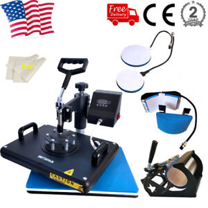 5 In 1 Combo Heat Press Machine Sublimation 12x15in Printing Machine Swing Away