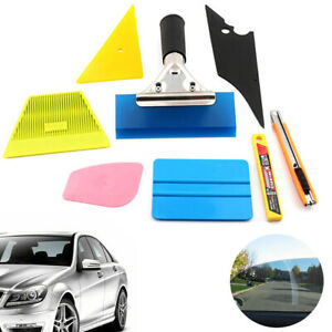 8x Car Window Tint Wrapping Squeegee Scraper Applicator Kits Vehicle Glass Vinyl